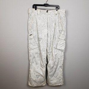 Burton cargo snow pants white size XL